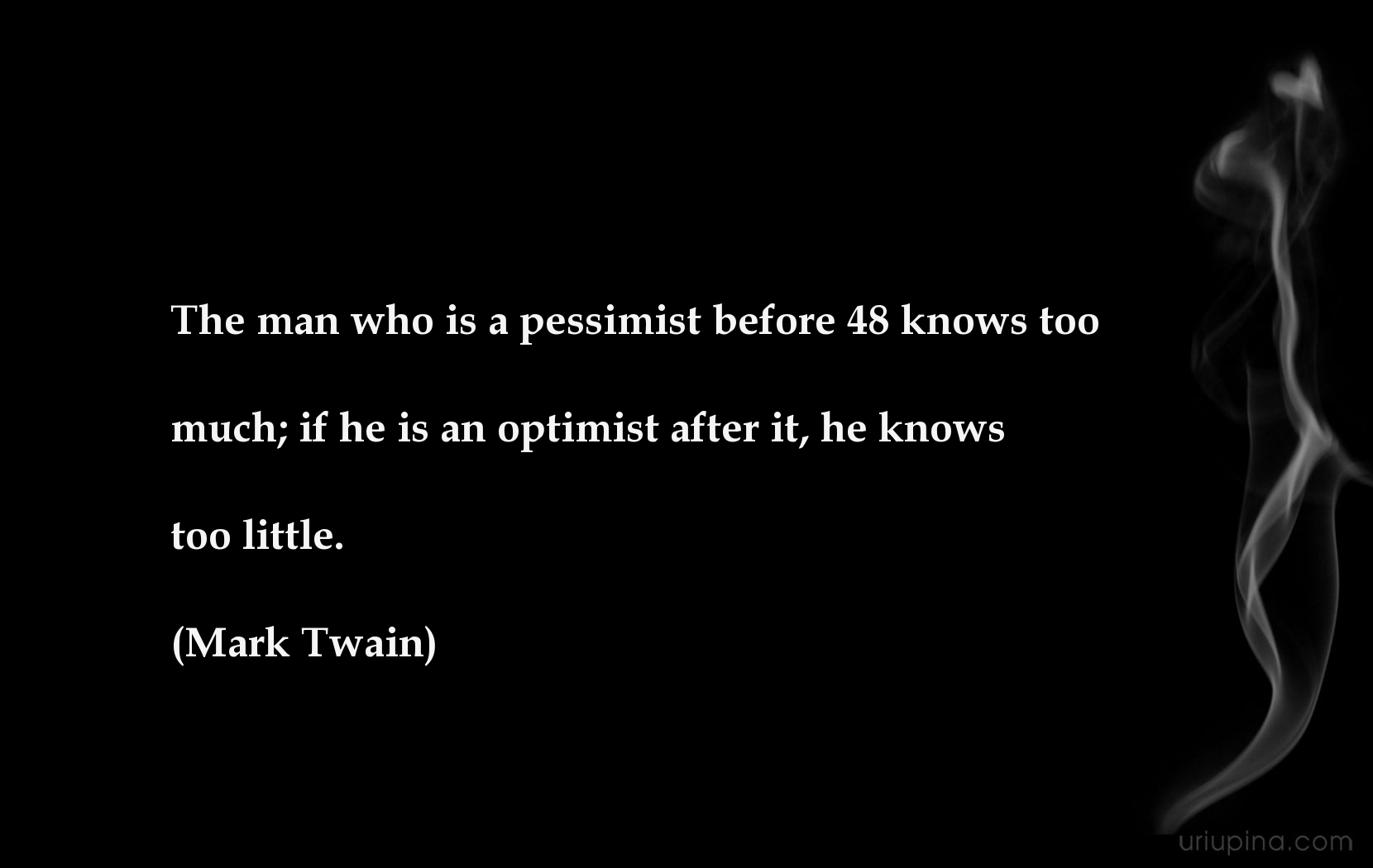 Pessimistic despondent quote